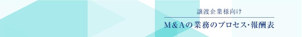 M&Aの業務のプロセス・報酬表 / 売却企業向け